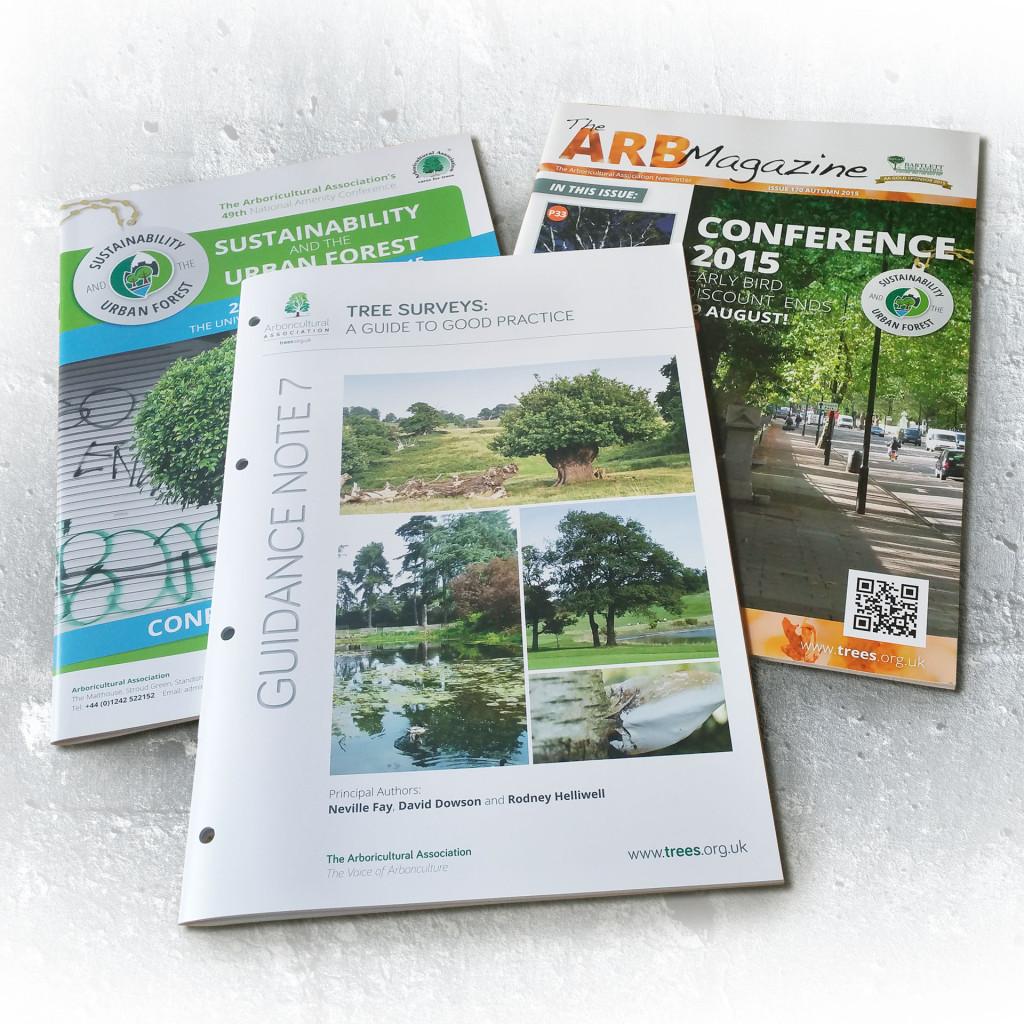 Arboricultural Association print literature