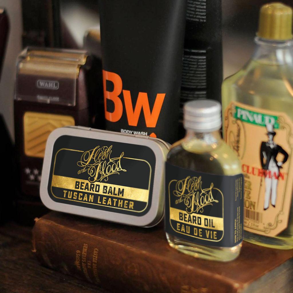 Flesh and Blood Beard maintenance products