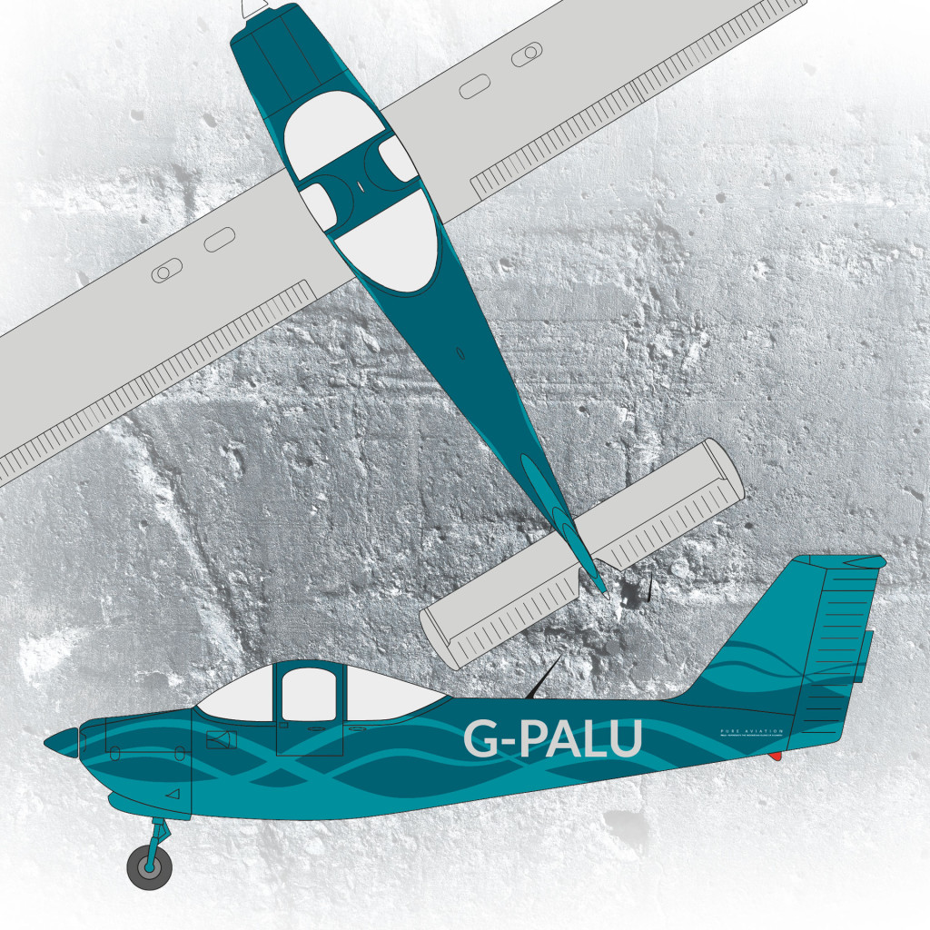 Pure Aviation aeroplane livery